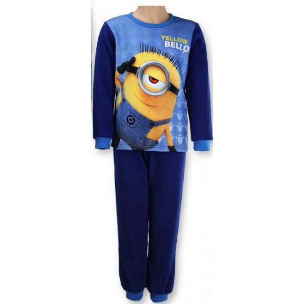 gyermek polár pizsama MINIONS - Minyonok - sötétkék - méret  128 3512b54199