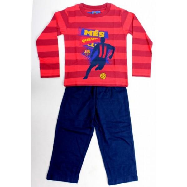 gyermek pizsama FC BARCELONA STRIPE - piros - méret  104 - 4 év. dddf19d615