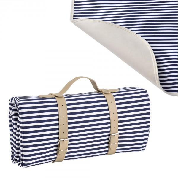 casa.pro  Piknik pléd   takaró - 200x147cm - kék fehér 3a86fb751e