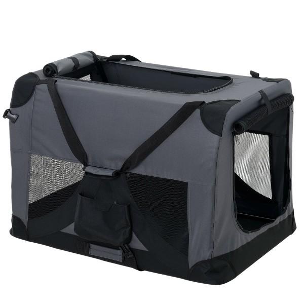 pro.tec ® Kisállat hordozó szállító táska box S 49.5 x 34.5 cm szürke kutya  macska 6691cf0e12