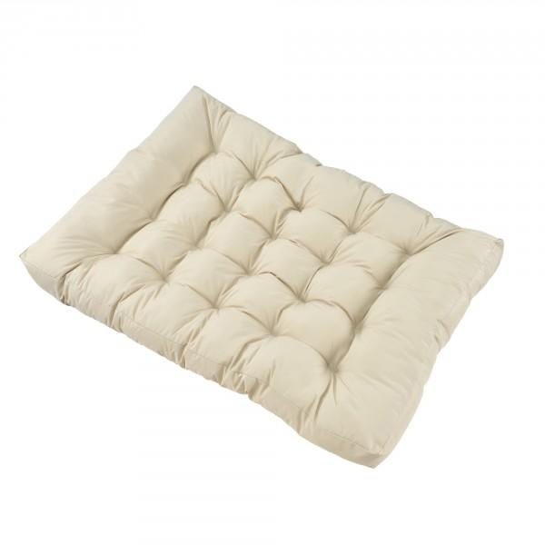 en.casa ® Raklapbútor párna - Szivacs huzattal raklaphoz -raklap ülőpárna  - bézs eeac8798e7