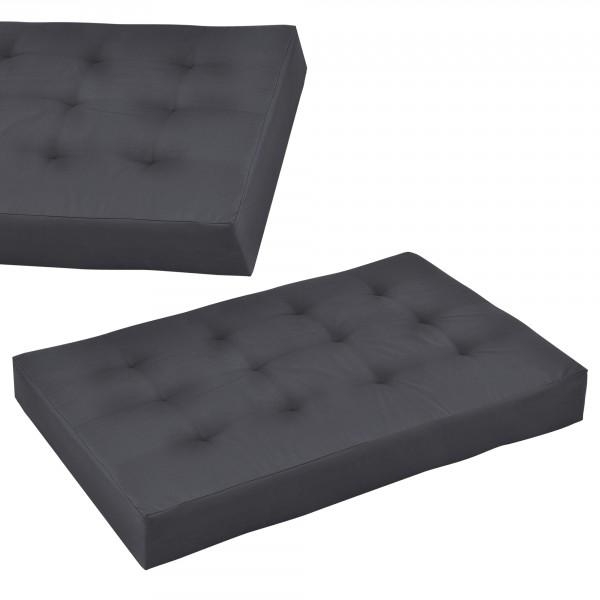 en.casa ® Raklapbútor párna - Szivacs huzattal raklaphoz (Ülőpárna) -  sötétszürke aa3eacc158