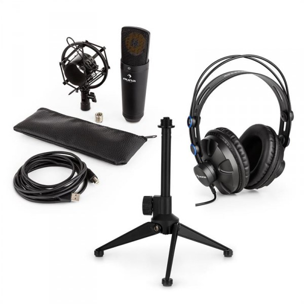 Auna auna MIC-920B USB mikrofon készlet V1 fülhallgató 19e6ca7a34