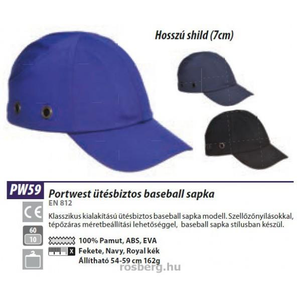 MV Portwest PW59 Baseballsapka beépített protektorral · » 5ad6edf6b6