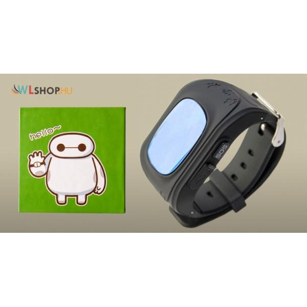 Q50 Gyerek nyomkövető GPS okosóra Sim kártya foglalattal - fekete ca3a853c9a