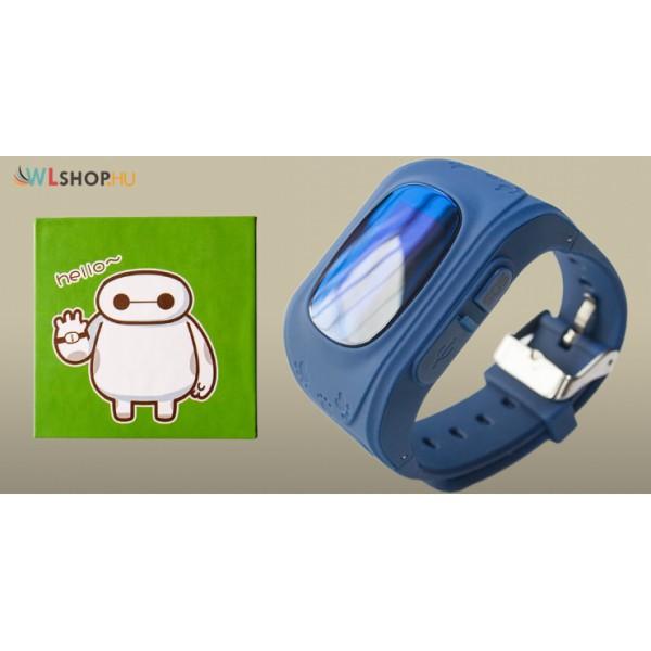 Q50 Gyerek nyomkövető GPS okosóra Sim kártya foglalattal - kék 10175c7f09