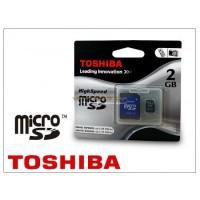 Toshiba microSD 2GB memóriakártya+SD adapter