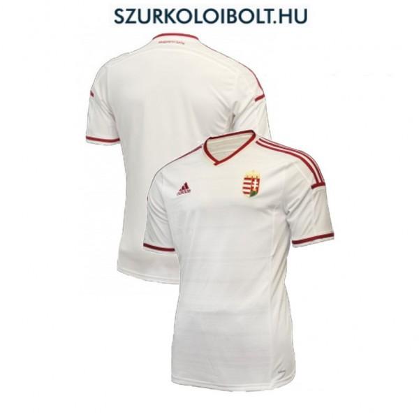 0860a6a1a3 Adidas Magyar válogatott hivatalos mez hímzett címerre (fehér) - kötelező  szurkolói termék