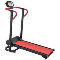 [in.tec]® Fittness futópad 125 x 65 x 121 cm LC-kijelzővel több funkciós piros/fekete összehajtható