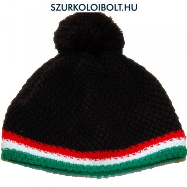 Magyarország feliratos kötött bojtos sapka - szurkolói sapka (fekete) 194d716702
