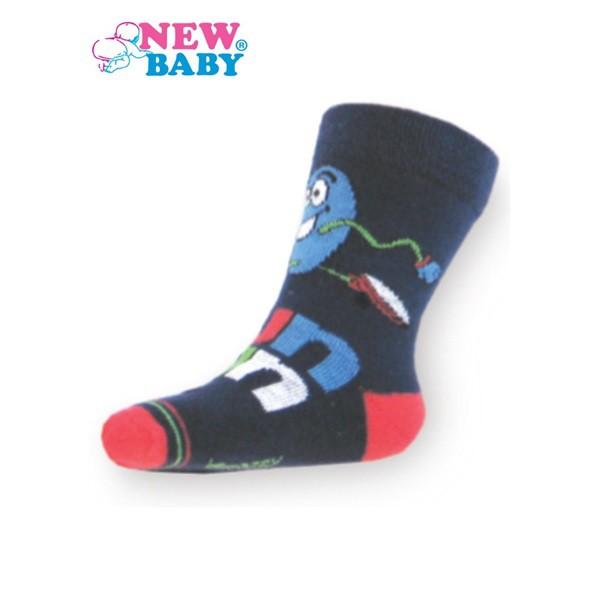 603efba5cb NEW BABY | New Baby | Gyerek pamut zokni New Baby sötét kék fun run | Kék |  104 (3-4 éves)