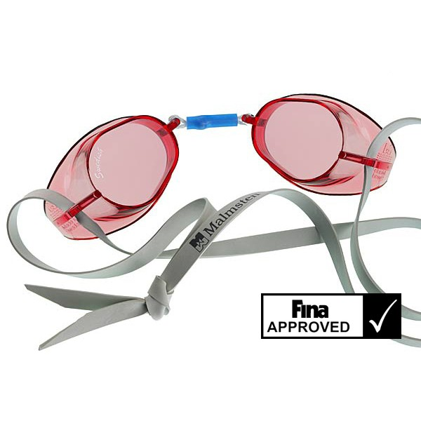 Svéd úszószemüveg sima piros áttetsző nem antifog- red 03ef06bfa1