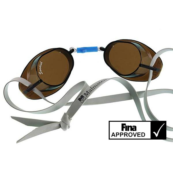 Svéd úszószemüveg sima füst áttetsző lencse nem antifog- smoke  18347190ec