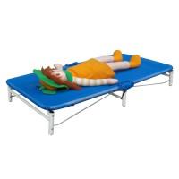 Tactic Color Komfort gyermek összecsukható fektető ágy, utazó ágy 132x54/74,4x54 cm