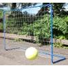 Fém hobby focikapu 180x120x60 cm, kék színű elemeire szedhető, hálóval