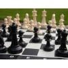 Capetan® Family Kültéri sakk készlet sakktáblával ,időjárásálló ABS műanyag 92x92cm vinyl sakktábla
