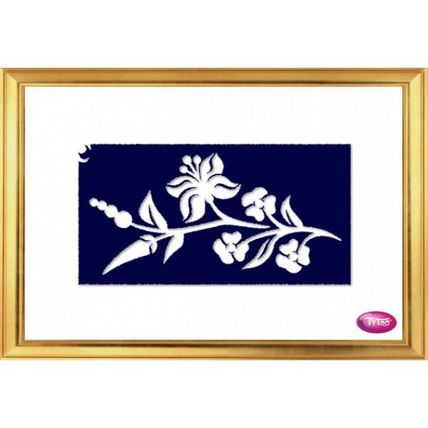 81511d8c4e Tytoo testfestő minta sablon 6x12cm MK-58 Kalocsai Magyaros Ékszer virág · »