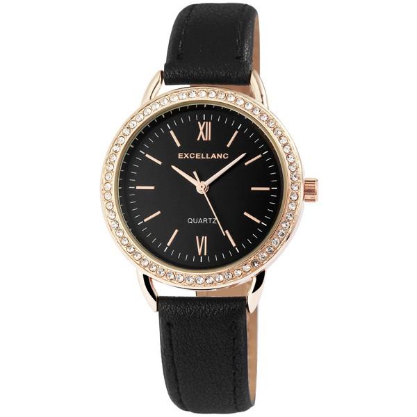 Excellanc Lovely fekete női karóra különleges számlappal EX18890TR 3590cb5e9c