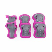 Spokey Shield gyerek védőfelszerelés szett, rózsaszín