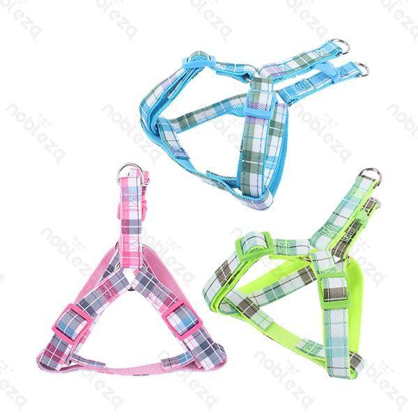Színes kockás mintás textil kutyahám cd0e9f5354