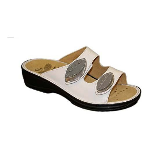 Scholl Cleodora bioprint női papucs fehér - kényelmi modell 37 8180b968c7