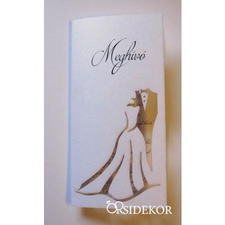 Áttört mintás esküvői meghívó menyasszony-vőlegény kivágással c6477d01f0