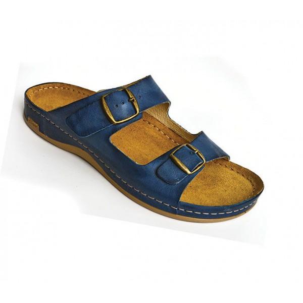 Leon Comfortstep férfi bőr kék papucs 41-46 1a8d0ee6bb