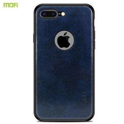 8846d4bea6 MOFI műanyag telefonvédő (szilikon keret, bőr hátlap) SÖTÉTKÉK [Apple  iPhone 7 Plus 5.5, Apple iPhone 8 Plus 5.5]