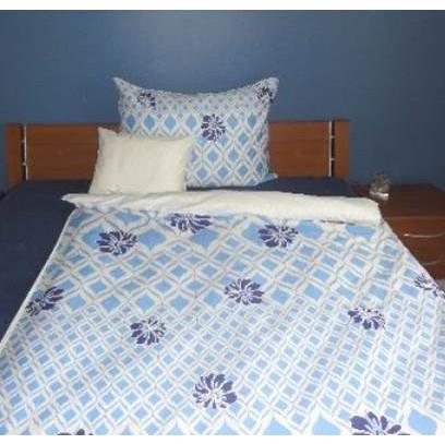 Elegancia Blue Blumen pamut-szatén ágyneműhuzat 011dd403d5