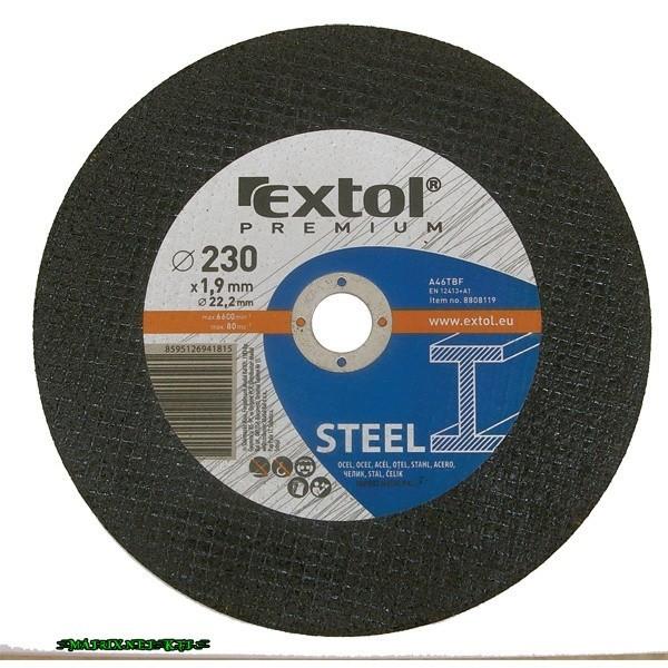 29f6ed956af0 EXTOL vágókorong acélhoz/inoxhoz, kék; 125×1,6×22,2mm, max 12200 ford/perc,  (darabáras, de csak ötösével rendelhető) 8808112