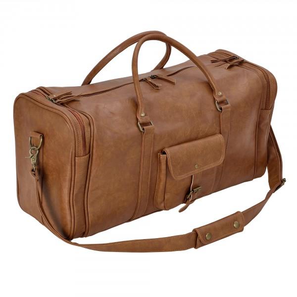 Corium® Utazótáska 27 x 54 x 23 cm Műbőr táska sporttáska kézipoggyász barna 516c1b5d45