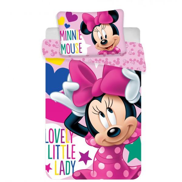 Disney Minnie egér 2 részes pamut-vászon ovis ágyneműhuzat 1a546b0c5a