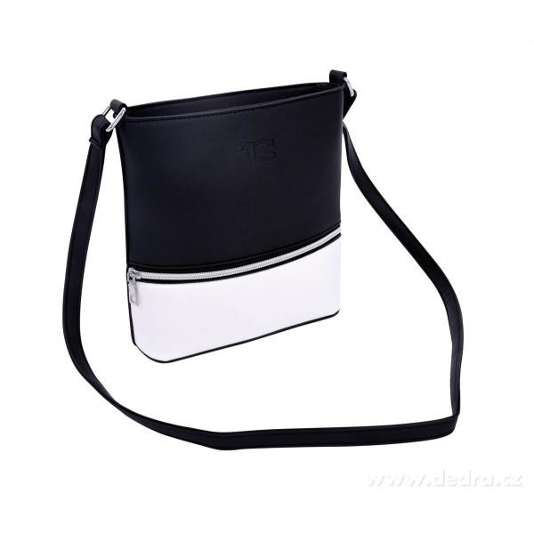 0fca4cfea8 INFINITY CROSSBODY ekobőr női táska fekete-fehér