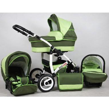 Raf-Pol Eco Lux 3 1-ben újszülött babakocsi zöld 86b27e4401