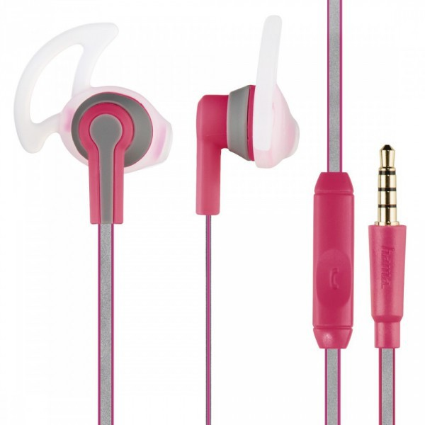 Hama Reflective sport fülhallgató mikrofonnal - rózsaszín (177019) 4a5063393e