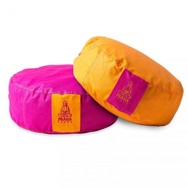 Prána párna 2in1 kifordítható huzat kerek ülőpárnához - Pink+Narancs 36x12  cm e53e5b7785