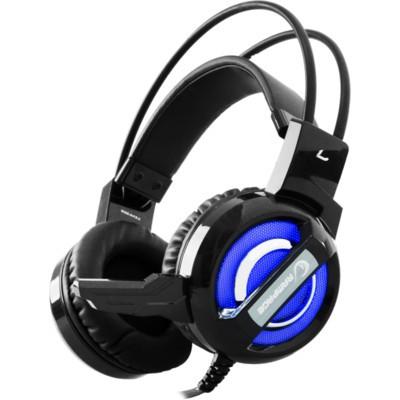 Rampage SN-RW4 7.1 vibrációs mikrofonos fejhallgató (fekete-kék) 18319 9c560de59e