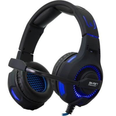 Rampage SN-RW7 Fejhallgató fekete-kék (22061) 7acd863582