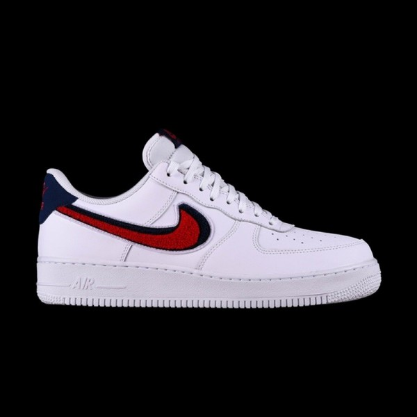 28bd9f2f9a8 Nike Air Force 1 Low  07 LV8 Chenille Swoosh White · »