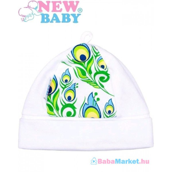 Baba pamut sapka - New Baby luxus kollekció Páva - 68 (4-6 h) b27ddb4b0b