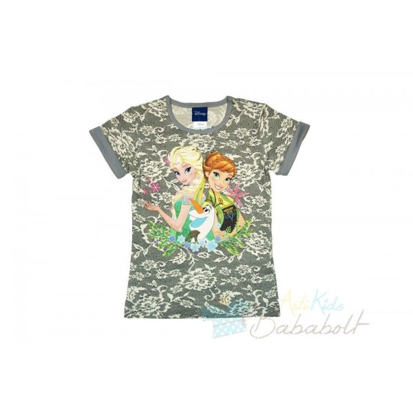04024a7f05 Disney Jégvarázs-Frozen csipkés hatású rövid ujjú póló (méret: 104-140)