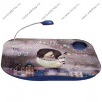 Anekke Dreram laptoptartó/hordozható asztal kislámpával, 48x38 cm
