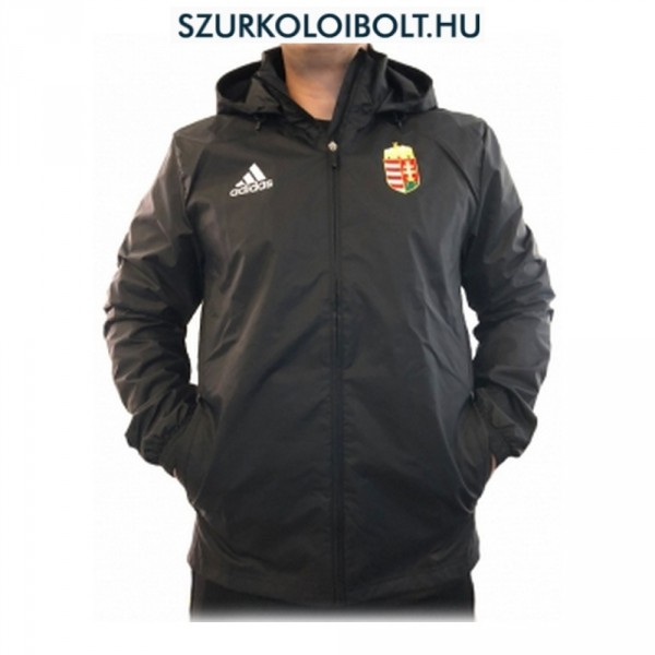 8d39d48f8a Adidas Hungary feliratos széldzseki / esőkabát - magyar válogatott dzseki  (fekete színben)