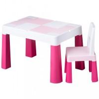 Gyerek szett asztalka székkel Multifun pink