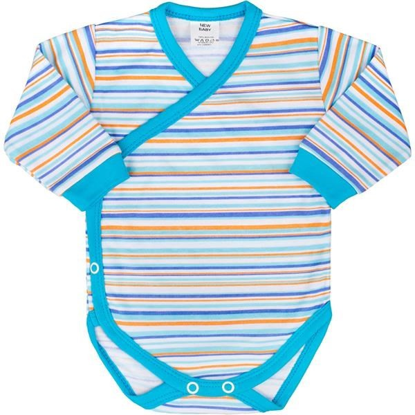 6c40c5679f Baba hosszú ujjú body teljes hosszában patentos New Baby Puppik 2 türkiz