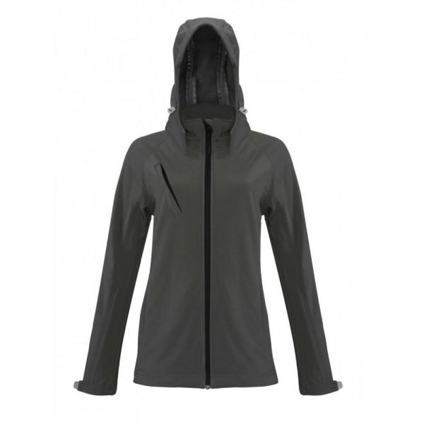 Kariban női SOFTSHELL dzseki, fekete poloplaza