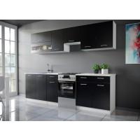 Color konyhabútor 250 cm Fekete