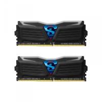 Geil 8GB DDR4 2400MHz Black Super Luce Blue LED AMD Edition Kit2 (2x4GB) GALR48GB2400C16DC