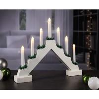 Karácsonyi gyertyapiramis ablakdísz világítás fehér 30 cm
