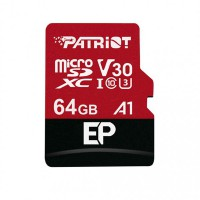 Patriot EP Series 64GB MICRO SDXC V30, up to 100MB/s PEF64GEP31MCX